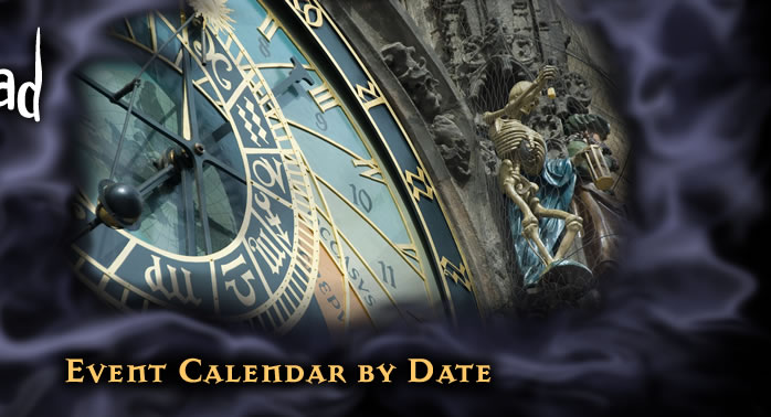 Festival of the Dead Event Calendar By Date